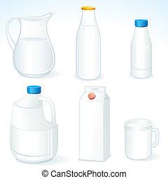 Milchpakete.