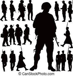 Militärische Silhouette