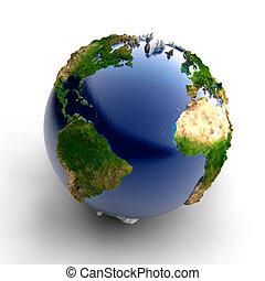 Miniatur realer Erde