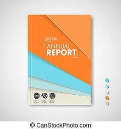 Minimalist Brochure / Buch / Flyer Design Vorlage.