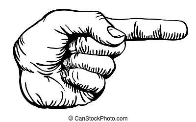 Mit dem Finger