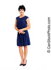 Mittelalter Frau in blauem Kleid