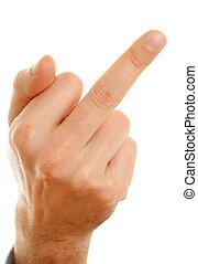 Mittelfinger.