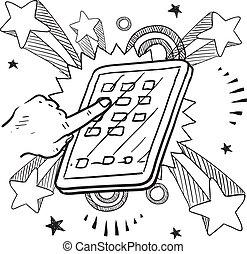 Mobile-Gerät-Sketch
