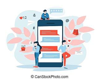 Mobile Marketing Konzept. Digitale Kommunikation