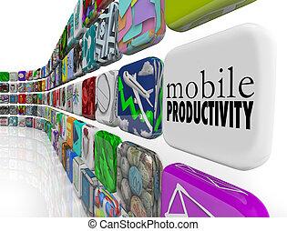 Mobile Produktivitäts-Apps-Software funktioniert nur entfernt