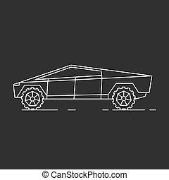 modern, auto, illustration.
