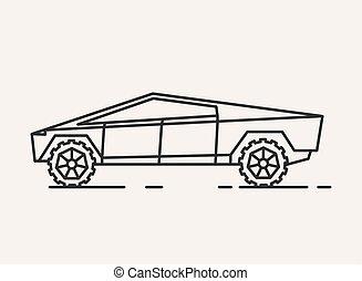 modern, illustration., auto