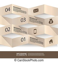 Moderne abstrakte 3d origami Banner infographic.