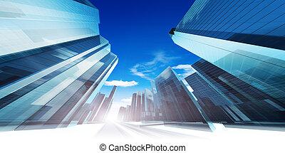 Moderne futuristische Stadt