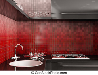 Moderne Küche 3D