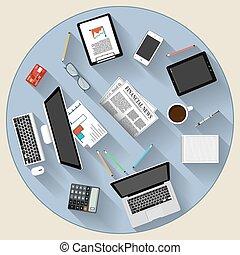 Modernes flaches Design Brainstorming und Teamwork Konzept