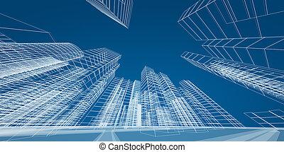 Modernes Stadtkonzept