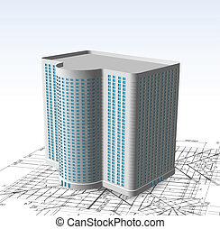 Modernes weißes Gebäude. Vector