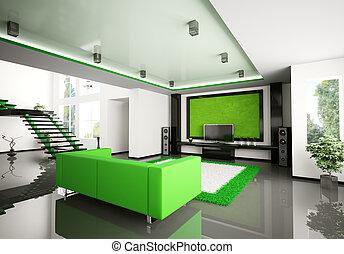 Modernes Wohnzimmer 3d