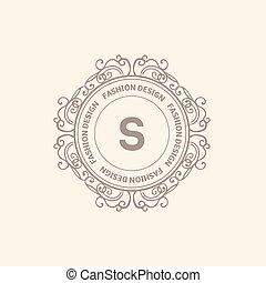 Monogramm Luxus-Logo-Vorlage