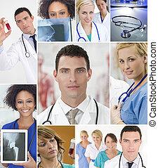 Montage der medizinischen Team Krankenschwestern & Doktor.