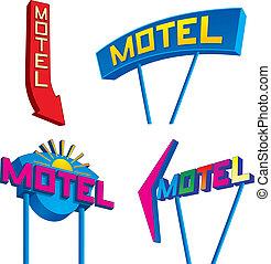 Motel-Schilder