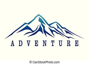 Mountain adventure logo dsign.