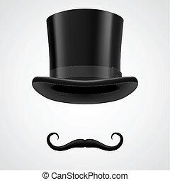 Moustaches und oberster Hut siegreiche Aristokraten