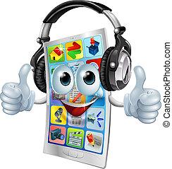 Musik-App-Handy