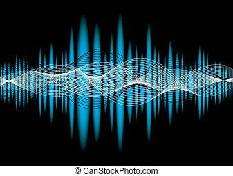musik, equaliser, welle
