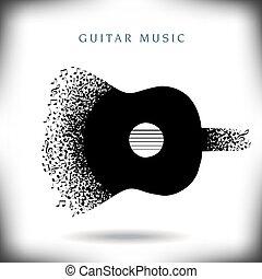 musik, hintergrund, gitarre