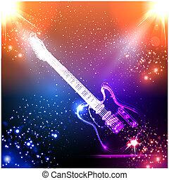 Musik Hintergrund, leichte Gitarre.