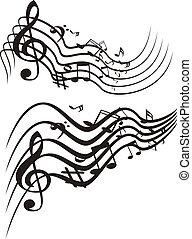 Musik-Thema. Vektor Illustration.