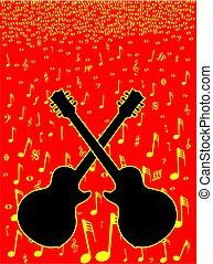 Musik und Gitarren Hintergrund.