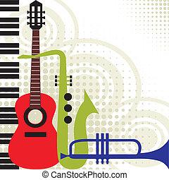 musik, vektor, instrumente
