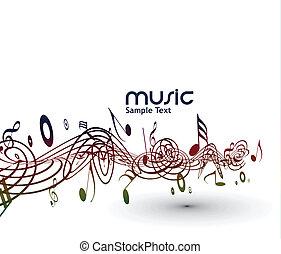 Musikalische Noten im Hintergrund