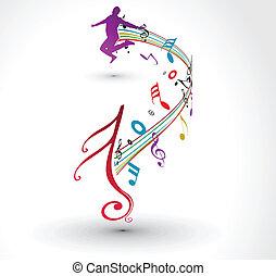 Musikalische Noten.