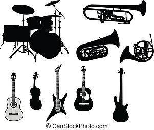 musikalisches, satz, instrumente