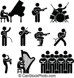 Musiker-Pianist-Konzertchor