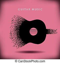 Musikgitarre.