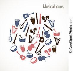 Musikinstrument Ikonen