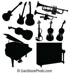 Musikinstrument schwarz