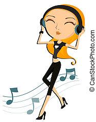 Musikmädchen
