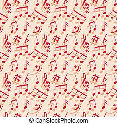 Musiknoten. Leichte Tapete.