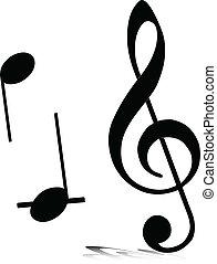 Musiknoten Vektorsilhouette