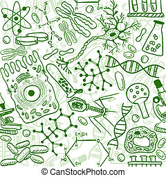 muster, biologie, seamless