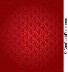 muster, (wallpaper), seamless, rotes