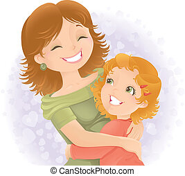 Muttertagsgrüße illustrieren.