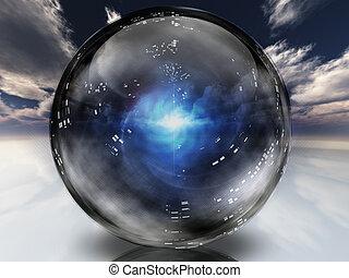 Mysteriöse Energie in Kristallkugeln.