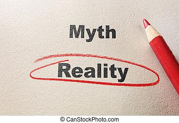 Myth gegen die Realität.