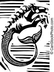 Mythologische Hippocampus.