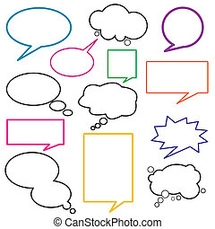 nachricht, dialog, balloon