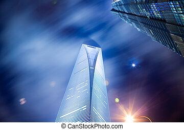 Nachtsicht von Shanghai