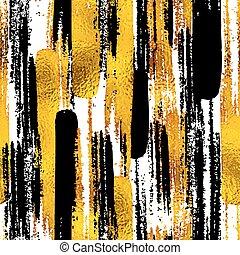 Nahelose trendige Blog-Hintergrundtexturen mit hand gezeichnetem Gold und schwarzen Tintendesignelementen. Vector eps10 Illustration Doodle Sketch